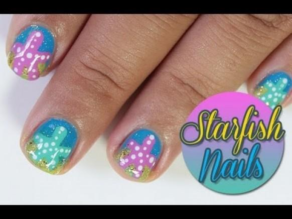 Hochzeits Nail Designs Starfish Nail Art 1929441 Weddbook