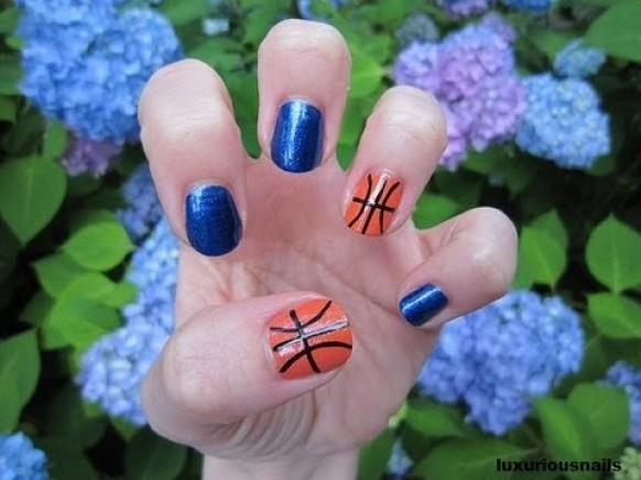 Hochzeits Nail Designs Cute Basketball Nail Art Tutorial 1929544