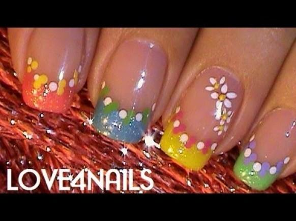 Fast Easy Different Colored Nail Art Design Tutorial 1931542