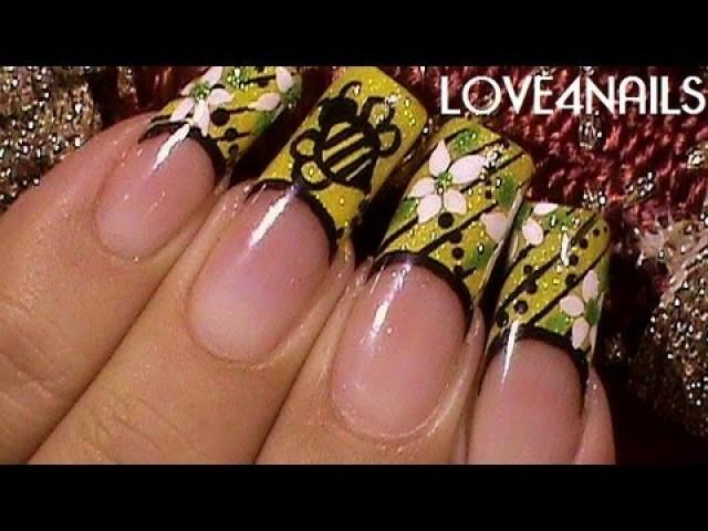How To Paint An Easy Bumble Bee Nail Art Design Tutorial 1936616