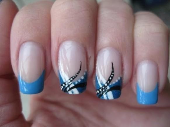 Hochzeits Nail Designs Nail Art Abstract Baby Blue 1958894