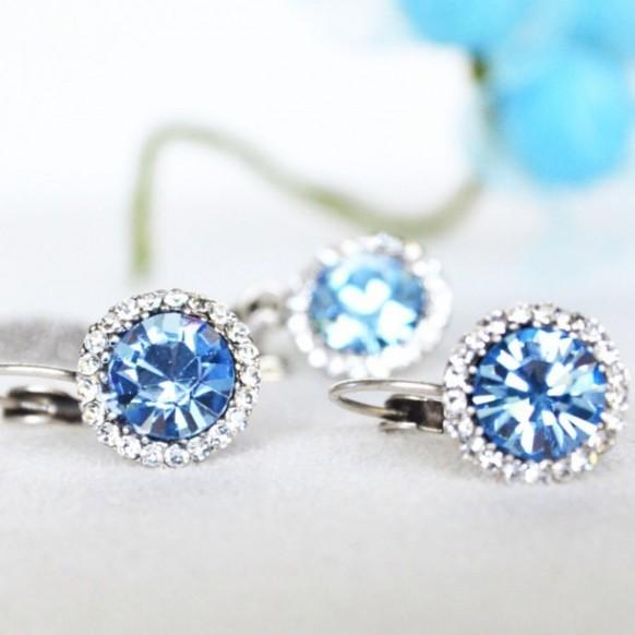 Something Blue Jewelry Set Bridal Bridesmaids Earrings Necklace 1964897 Weddbook