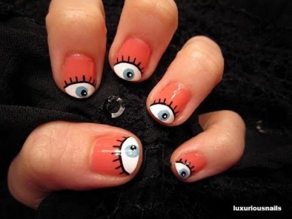 Hochzeits Nail Designs Girly Eyeball Nail Art Tutorial 1974486