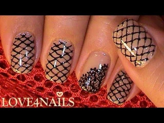 How To Paint A Black Lace Pattern On Your Nails 2003022 Weddbook
