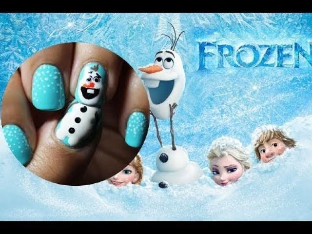 Wedding Nail Designs - Frozen Nail Art - Olaf #2026044 - Weddbook