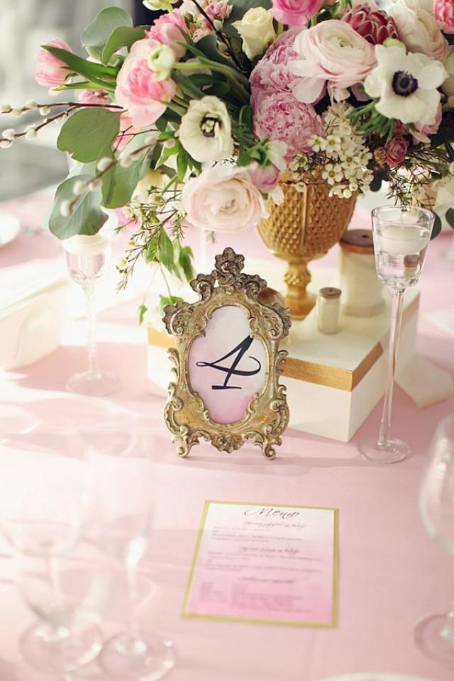 Gold Wedding Gold Framed Table Numbers 2026465 Weddbook