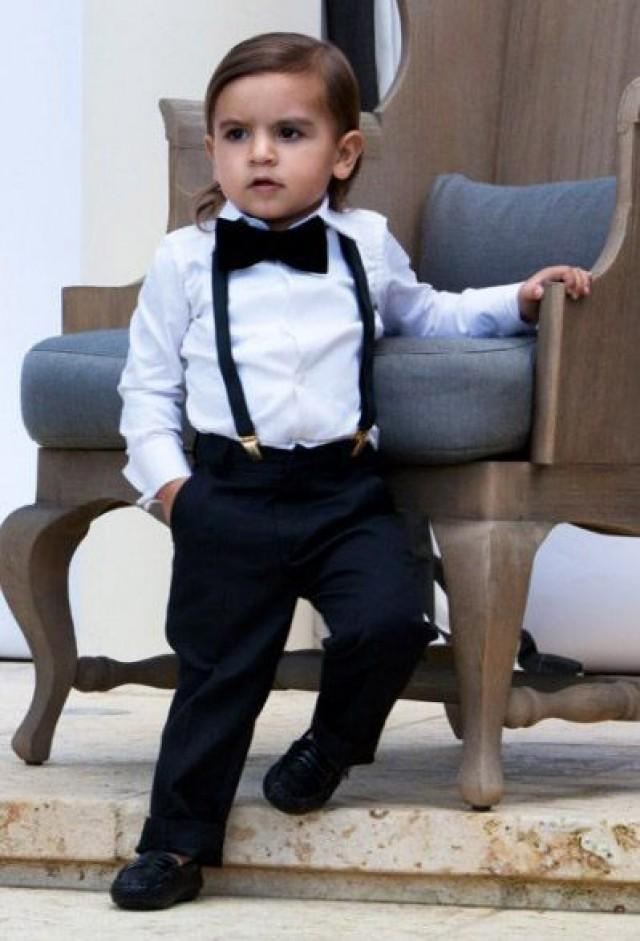 Boys Black Suit Pants, page boy out, wedding boy suit, ringer bearer outfit, boys formal wear, graduation outfit, holy communion LittleladiesNdgents 5 out of 5 stars.
