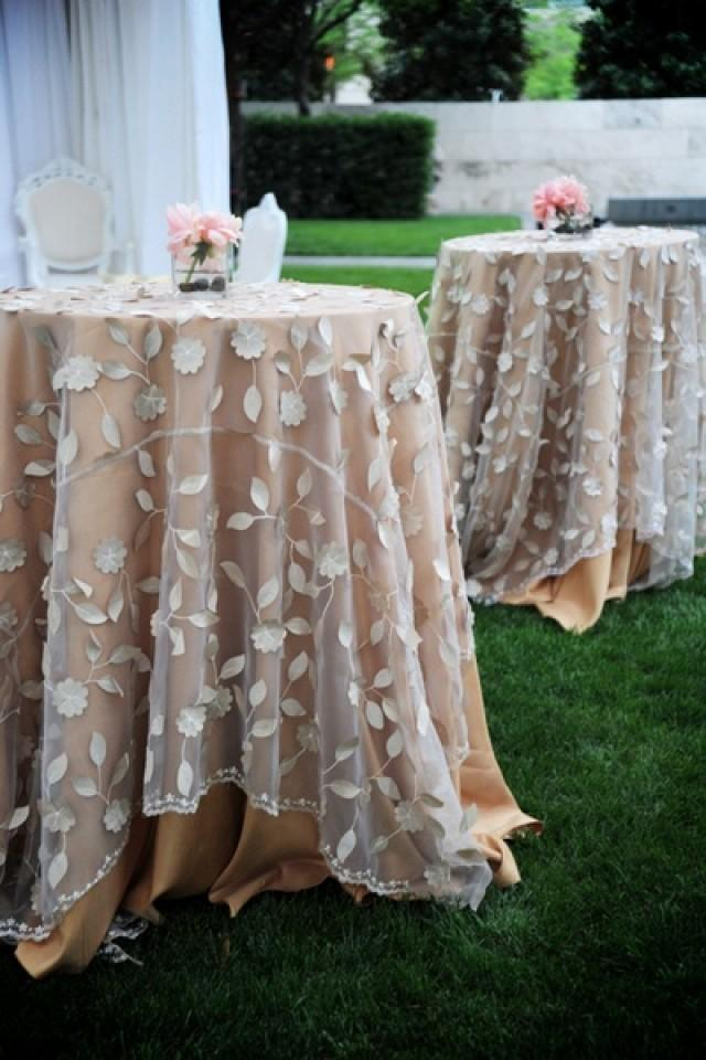 Wedding Table Linens.Country Wedding Lovely Overlays Table Linens 2031720 Weddbook