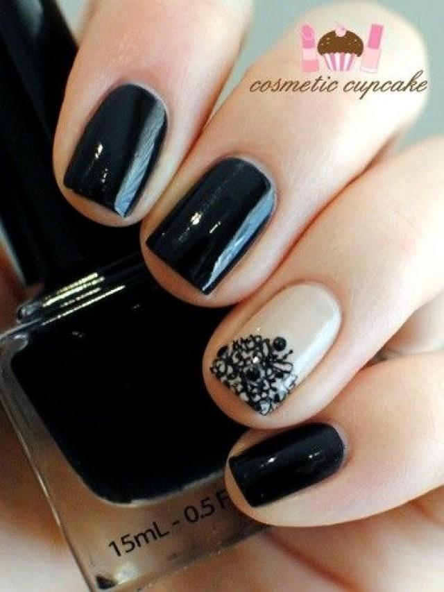 Wedding Nail Designs Nail Nail Nail Black And Nude 2038209