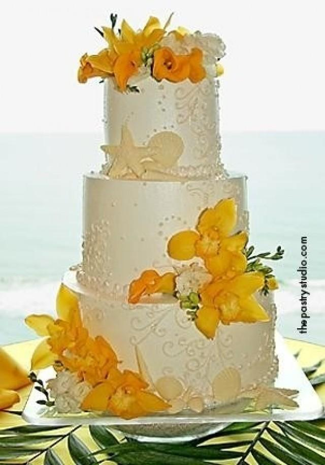 Beach Wedding - Beach Wedding Cake #2039356 - Weddbook
