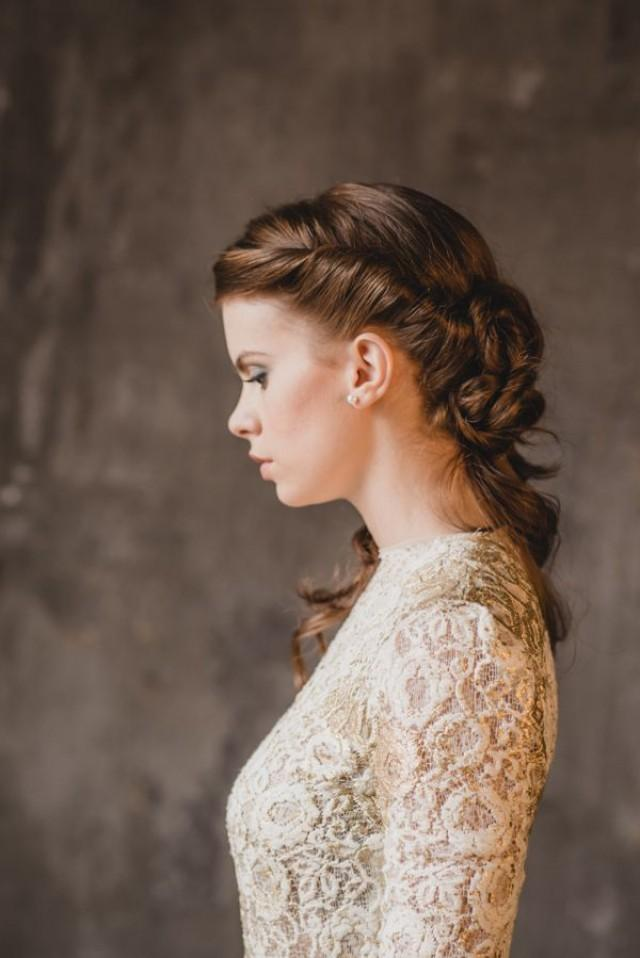 wedding nail designs vintage inspired bridal hair 2039607 weddbook. Black Bedroom Furniture Sets. Home Design Ideas