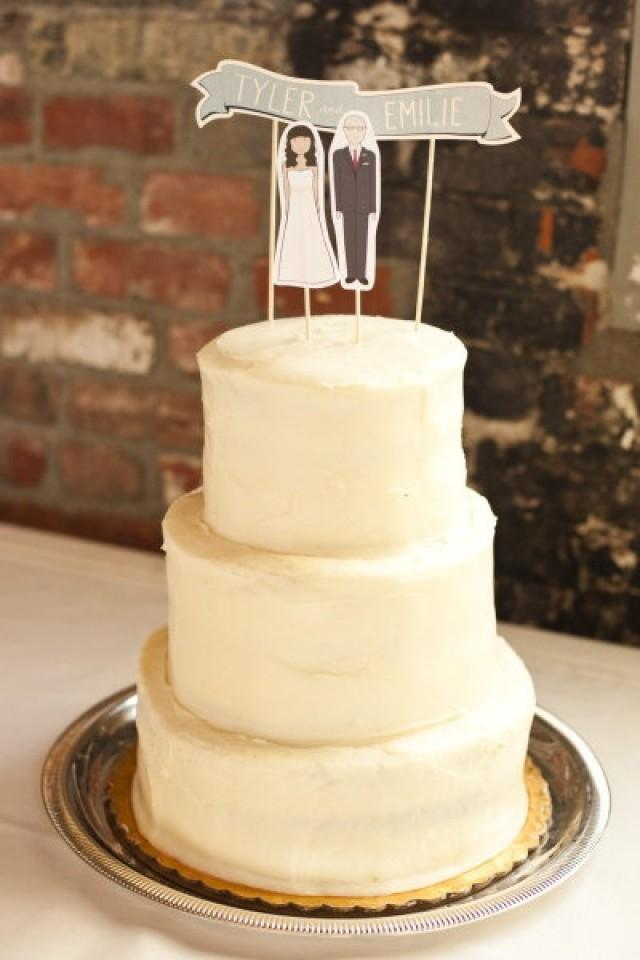 Cake Topper - Illustrated Cake Topper #2040128 - Weddbook