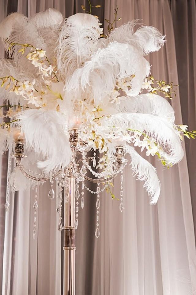 20s Wedding Feather Orchid Centerpiece 2040271 Weddbook