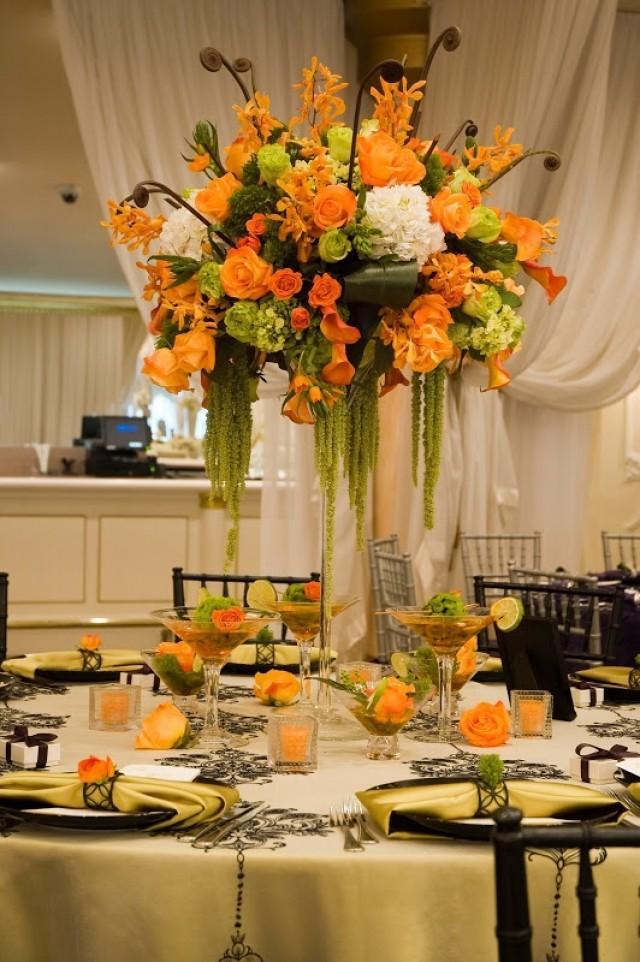 Decor Tangerine Tablescape 2041767 Weddbook