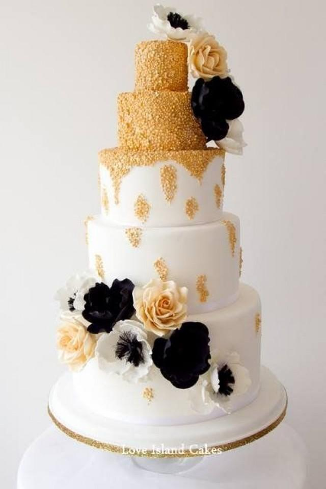 Gold Wedding Old Hollywood Gold By Loveislandcakes