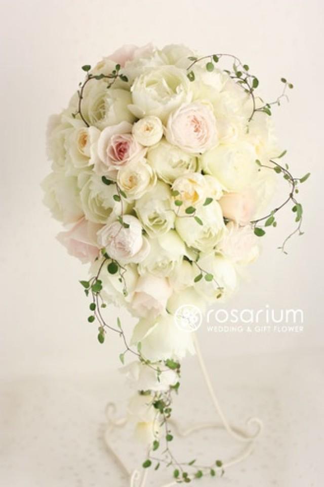 Classic wedding classic white cascade 2043208 weddbook - Flowers good luck bridal bouquet ...