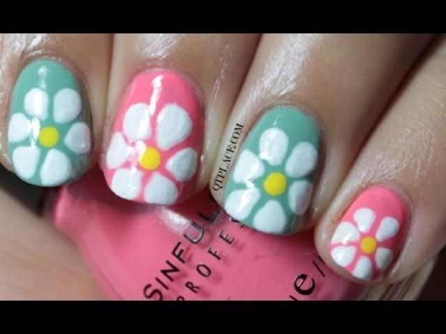 Wedding nail designs spring flower nail art 2043295 weddbook spring flower nail art mightylinksfo