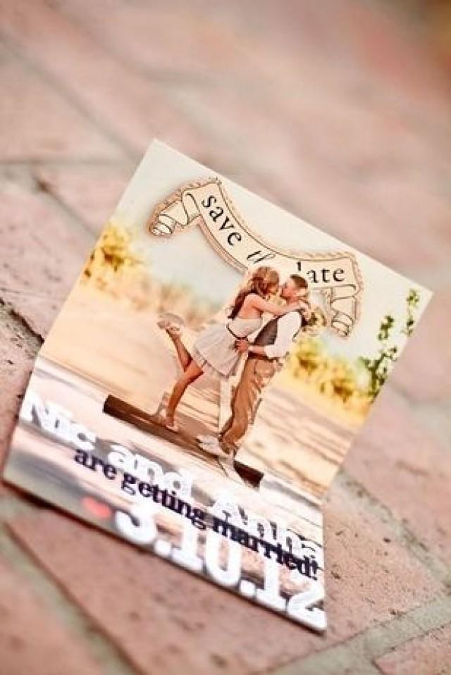 invitation  how cute is this save the date pop up