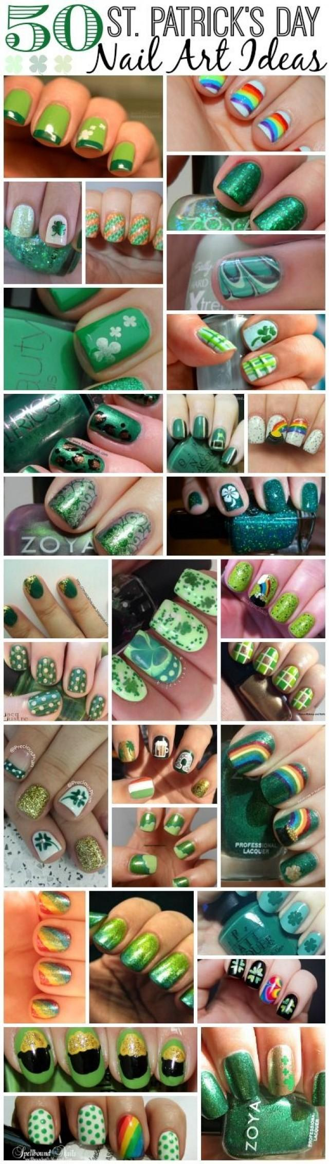 Wedding Nail Designs - St. Patrick\'s Day Nail Art Ideas #2046285 ...