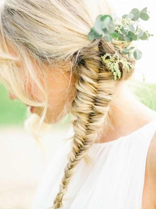 fishbone braids braid hairstyles hair fishtail hairstyle braided wedding beau belle flowers styles inspiration photography romantic little greenery weddbook shoot