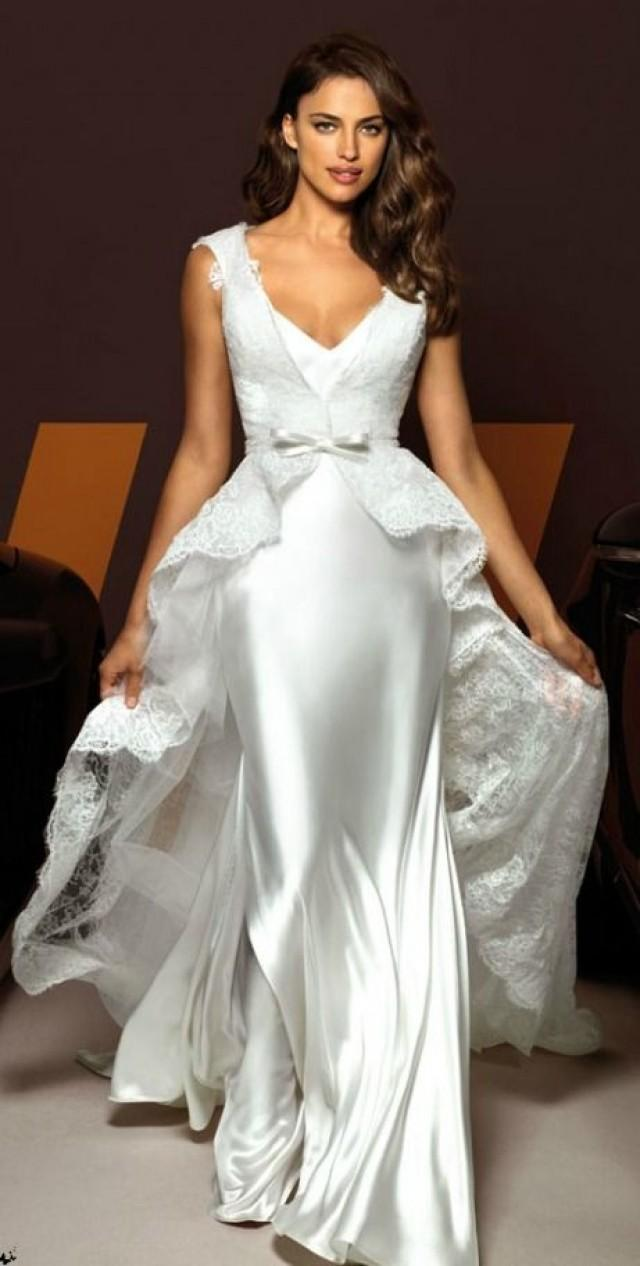 Short Sleeved/Cap Sleeved/Off The Shoulder Sleeves Wedding Gown ...