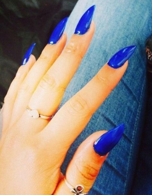Blue Wedding - Blue Stiletto Nails! #2047200 - Weddbook