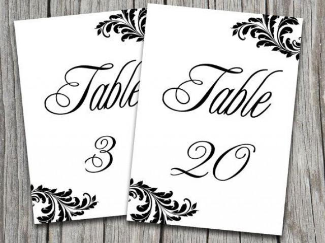 Victorian wedding victorian wedding table number for Table numbers for wedding reception templates