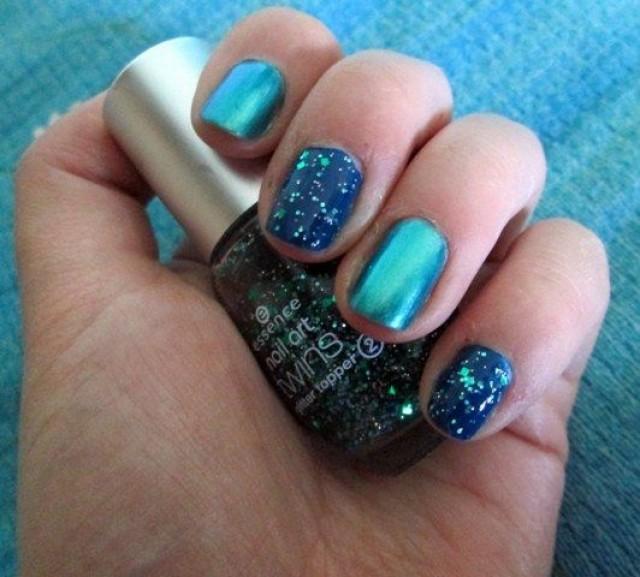Wedding Nail Designs - Glitter Metal Nail Art #2049989 - Weddbook