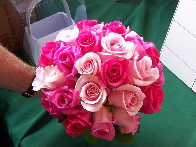 Fuscia Wedding - Hot Pink Wedding Bouquet #2050055 - Weddbook