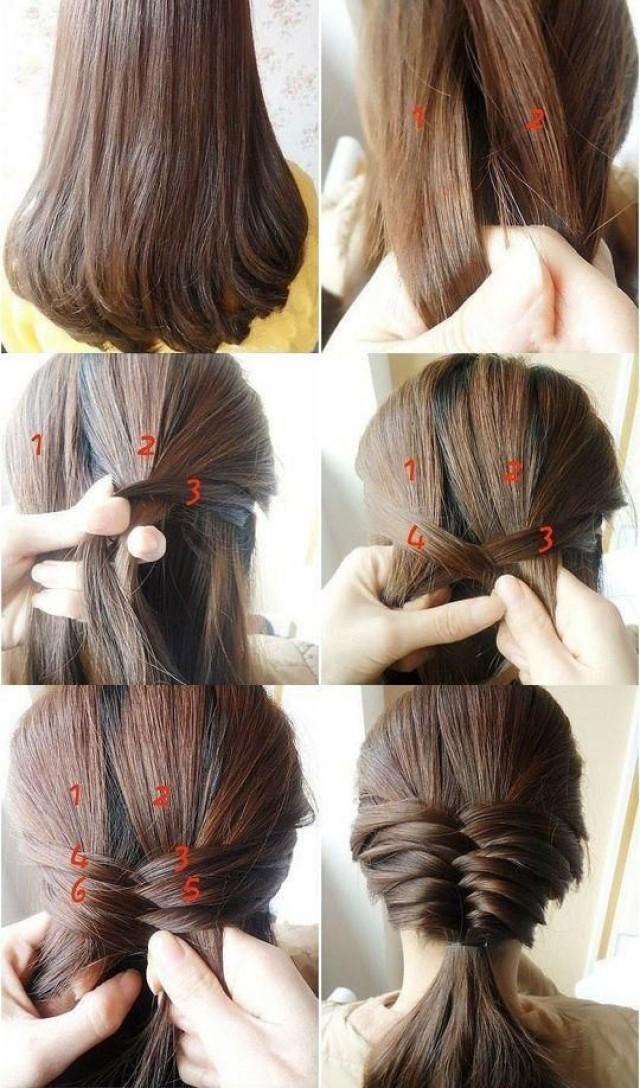 Причёски на очень длинные волосы в домашних условиях своими руками 86