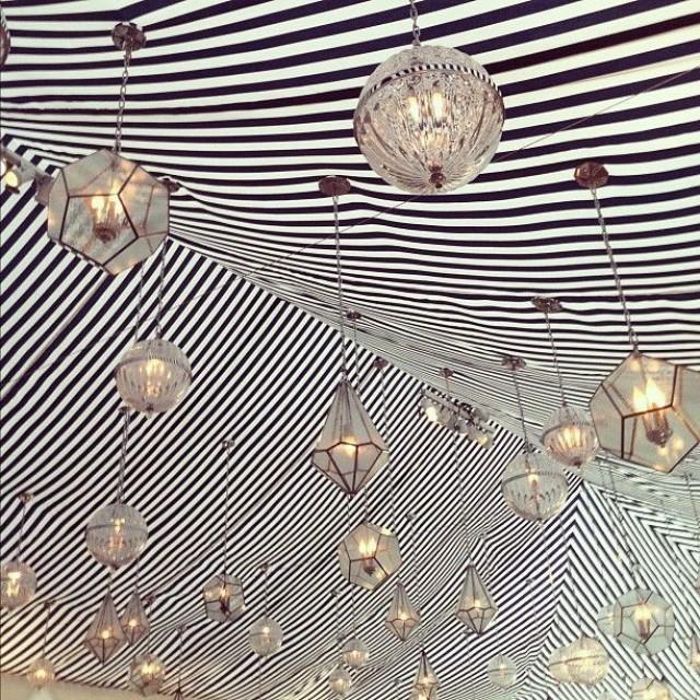 Striped Wedding Lighting In The Tent Jose Villa