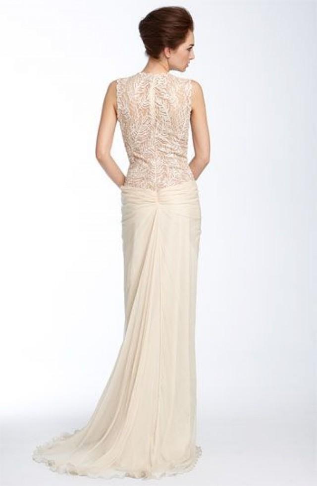 Wedding Dresses Tadashi Shoji Lace Chiffon Gown 2051112 Weddbook