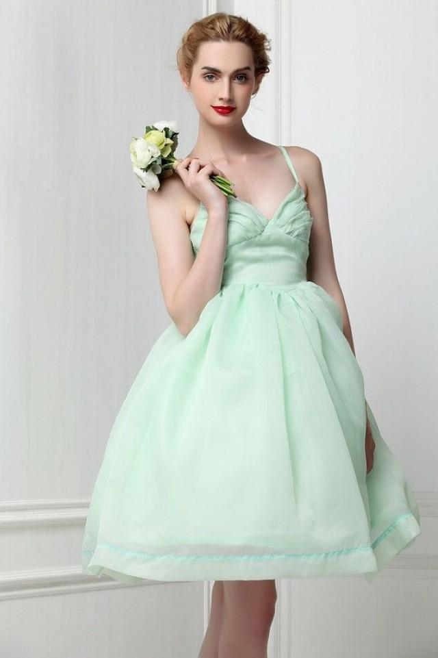 Organza mint green ballet tutu bridesmaid dress fairy for Light green wedding dress