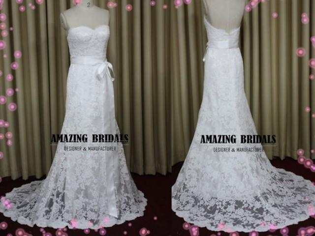 Low Back Lace Wedding Gown: Backless Wedding Dress, Low Back Lace Wedding Dress