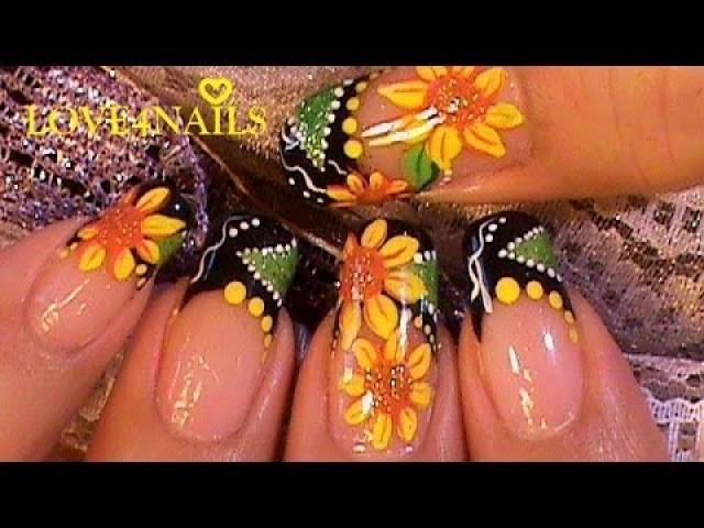 How To Paint A Sunflower Nail Art Design Tutorial - How To Paint A Sunflower Nail Art Design Tutorial #2053997 - Weddbook
