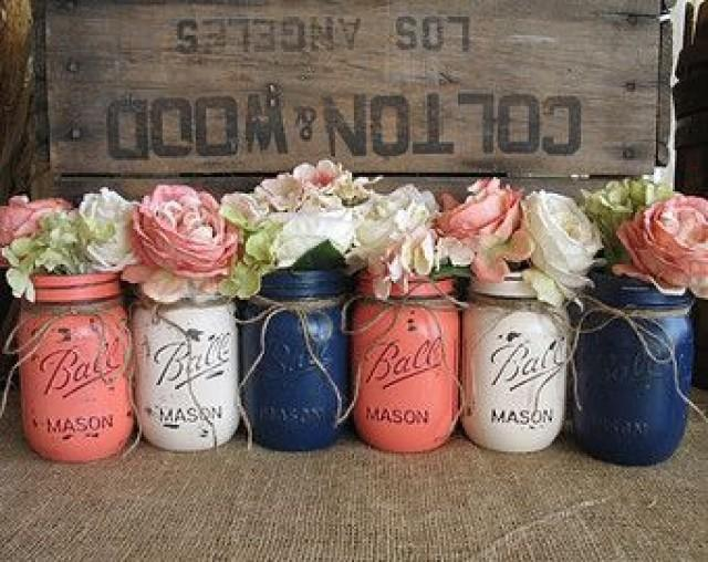 Vases Hand Painted Flower Vases Upcycled Flower Vases Rustic
