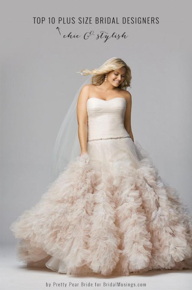 Top 10 plus size wedding dress designers by pretty pear for Top 5 wedding dress designers