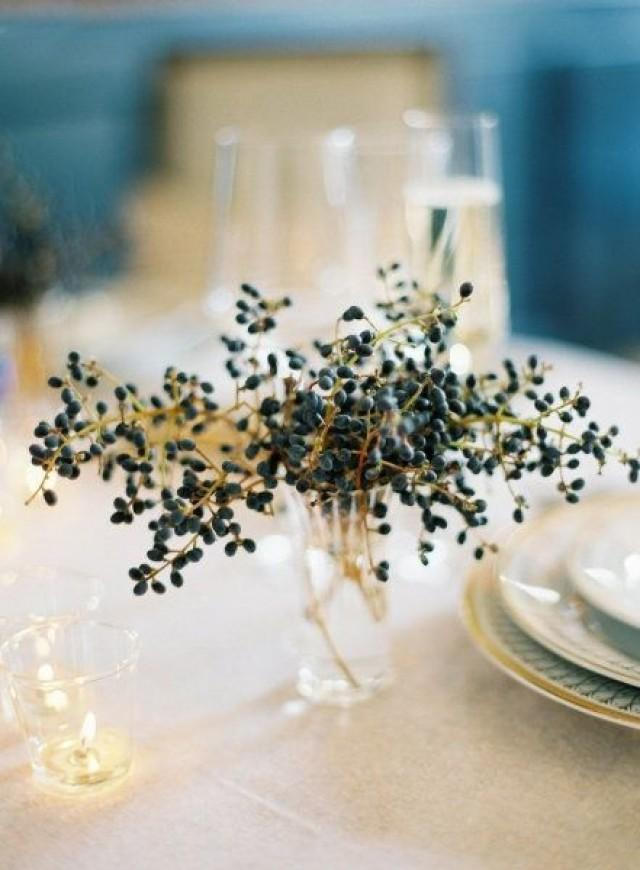 Victorian Wedding Navy Berry Centerpiece 2054610 Weddbook