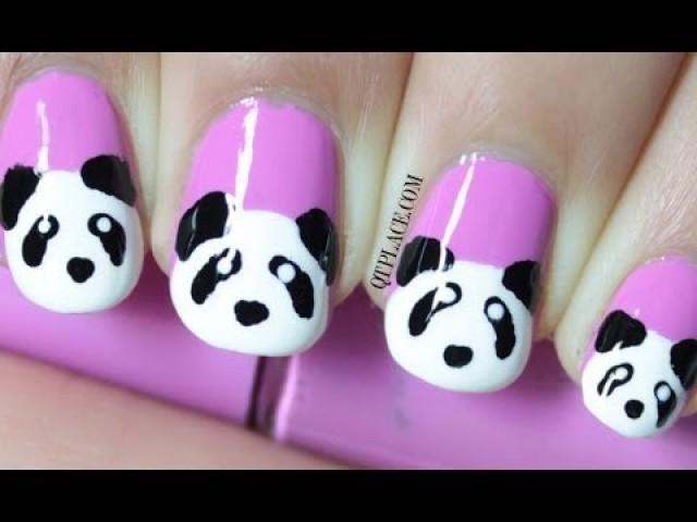 Panda nail art - Wedding Nail Designs - Panda Nail Art #2056248 - Weddbook