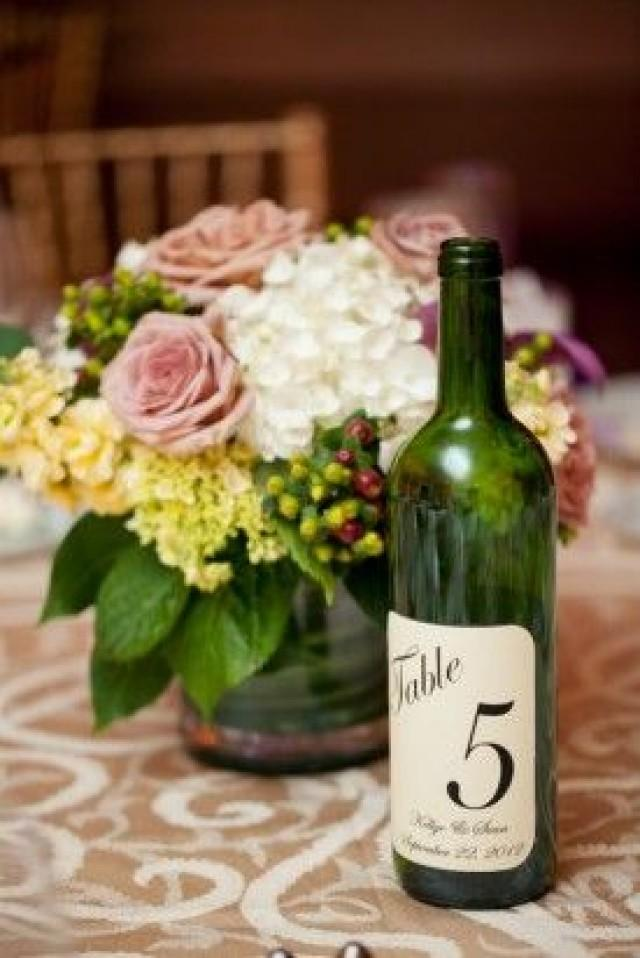 Wine Wedding Wine Bottle Table Numbers 2056518 Weddbook