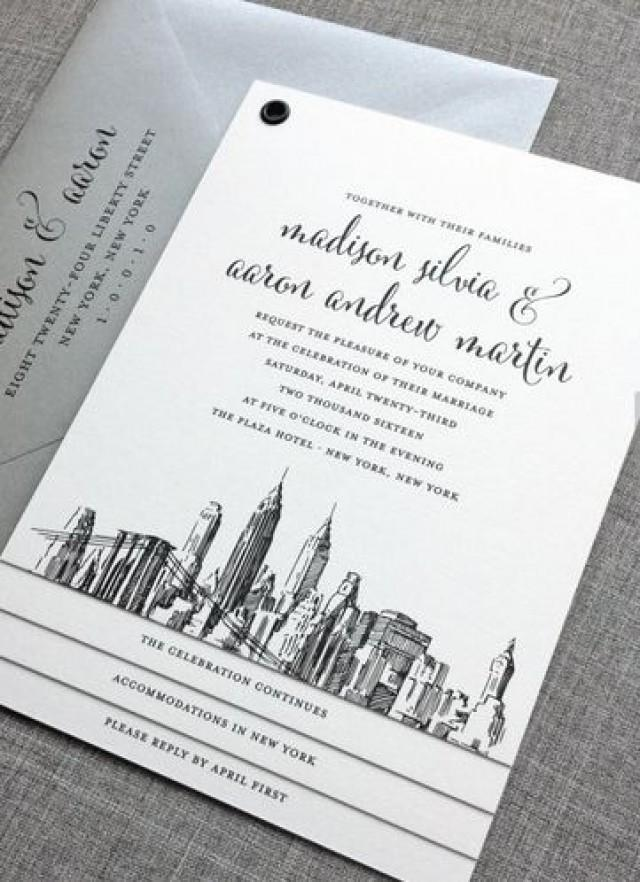 NEW Madison New York Skyline Wedding Invitation Sample #2056710   Weddbook