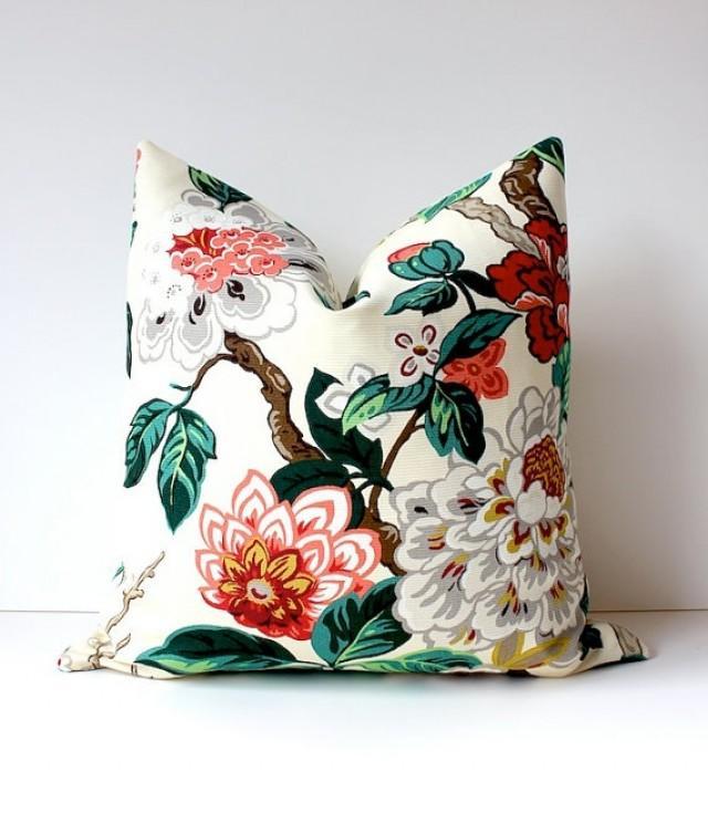 Modern Green Pillow Cover : Modern Emerald Pink Decorative Designer Pillow Cover 18