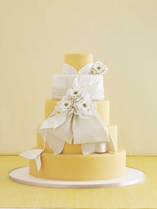Yellow Wedding - 25 Prettiest Wedding Cakes! #2058842 - Weddbook