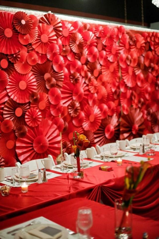 Red Wedding Red Pinwheel Backdrop 2058886 Weddbook
