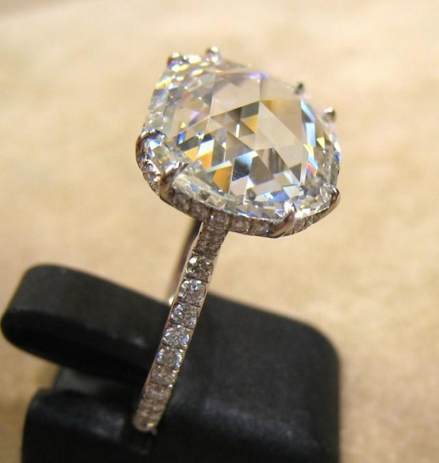 Wedding Diamond 5 67 Carat G Fl Rose Cut Diamond Ring