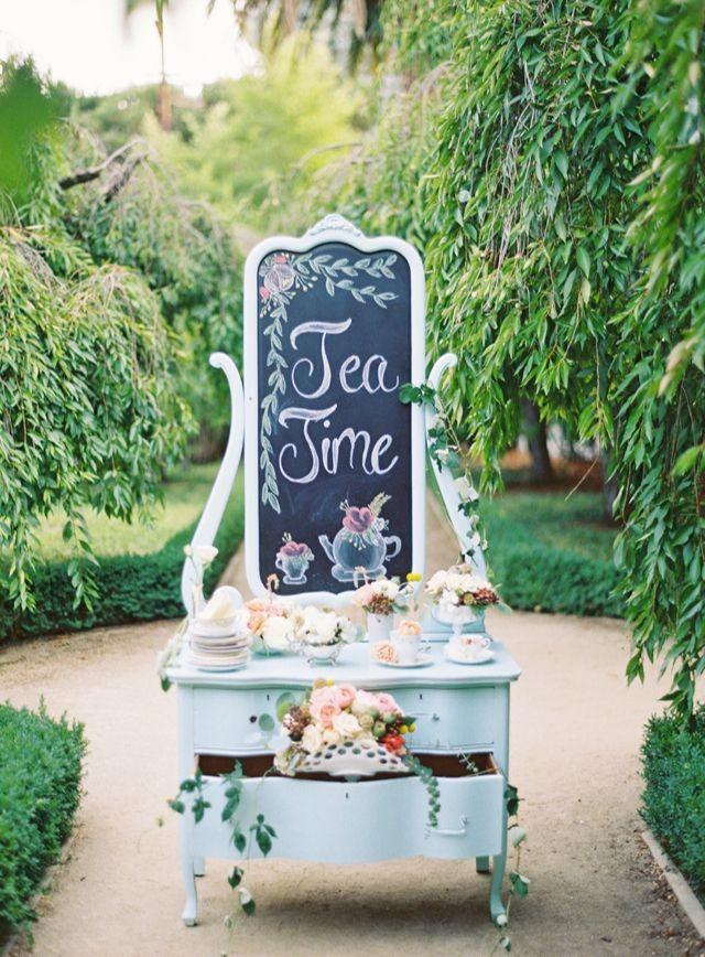 Vintage style garden wedding