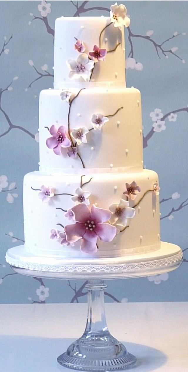 Cherry Blossoms Wedding - Cherry Blossom Wedding Cake #2061561 - Weddbook