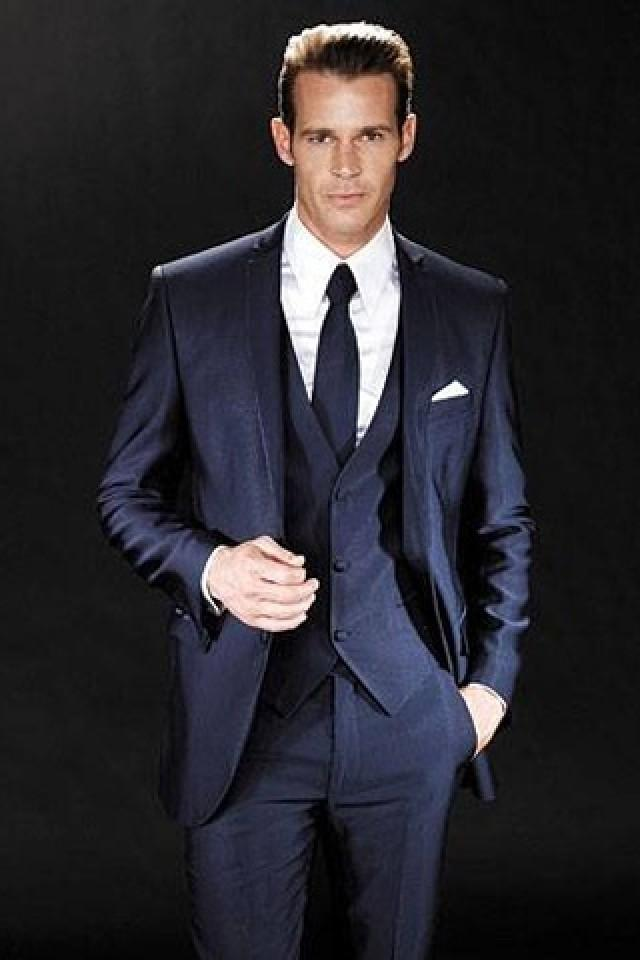 Navy Wedding Groom Navy Suit 2062186 Weddbook