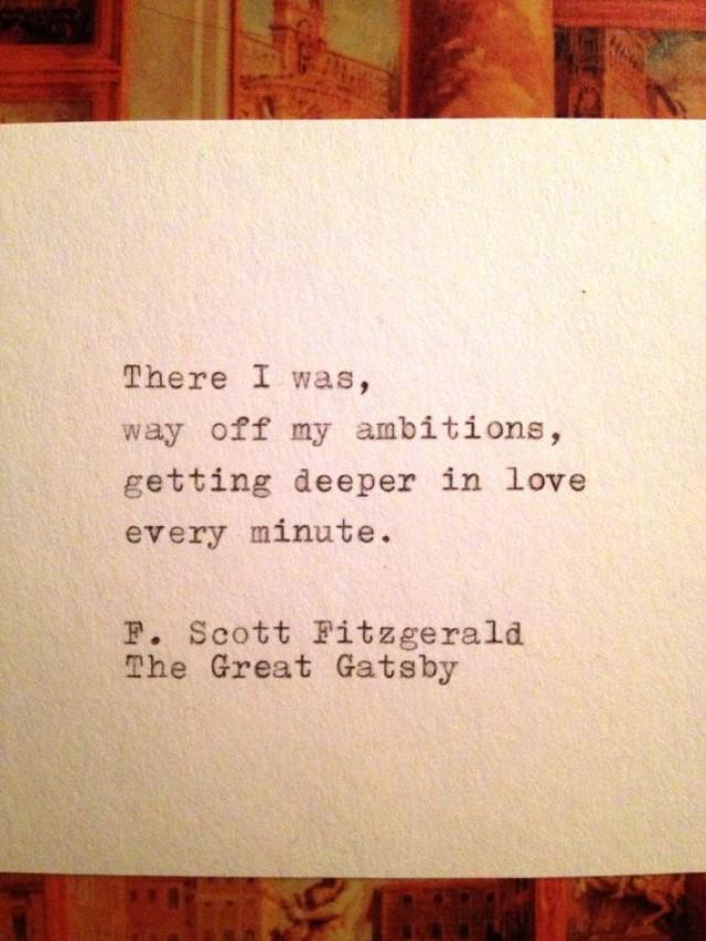 fitzgerald gatsby love In the great gatsby, jay gatsby is portrayed as a naive and heartbroken man who will do anything to revive his relationship with the love of his life even if it.