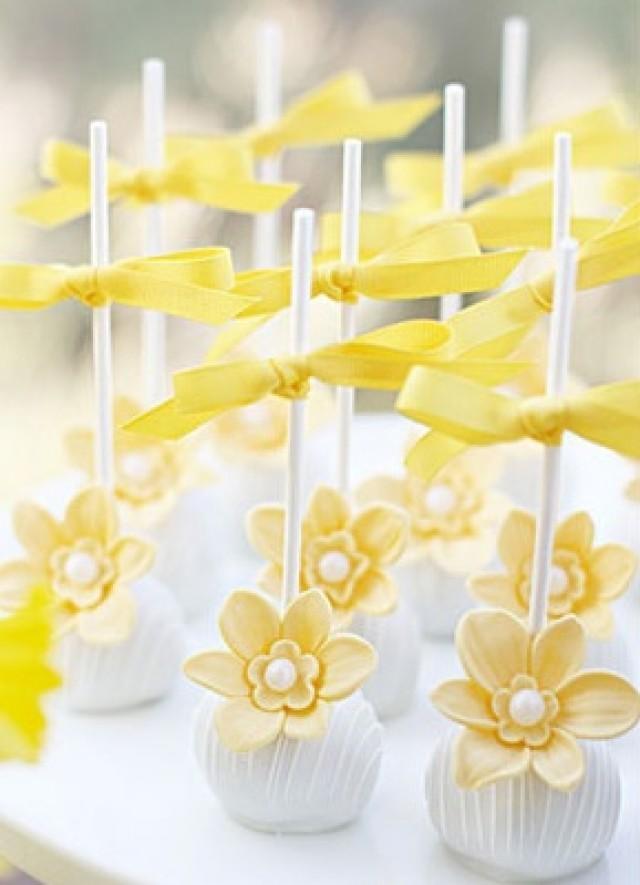 Yellow Wedding - Pretty Daffodil Cake Pops. #2062516 - Weddbook